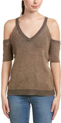 Splendid Cold-Shoulder Wool-Blend Top