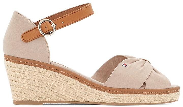 64d829730cf Elba Espadrille Wedge Heel Sandals with Ankle Cuff