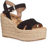 Sam Edelman Maura Suede Platform Wedge Espadrille Sandals