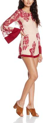 MinkPink Women's The Sweetest Thing Sound Long Sleeve Playsuit