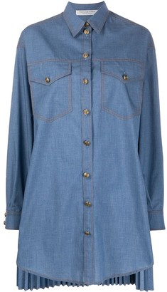 Philosophy di Lorenzo Serafini Denim Shirt Dress