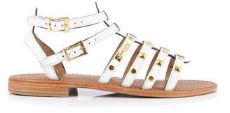Les Tropéziennes Hiclou Leather Studded Gladiator Sandals