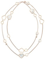 Chopard Happy Hearts 18K Rose Gold, Diamond & Mother-Of-Pearl 2-Strand Station Necklace