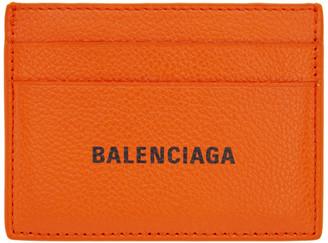 Balenciaga Orange Cash Card Holder