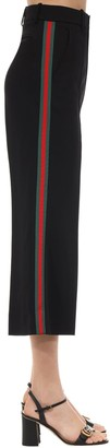Gucci CROPPED WIDE LEG STRETCH CADY PANTS