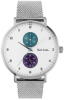 paul smith watches for men shopstyle uk paul smith ps0070007 men s track bracelet strap watch silver white