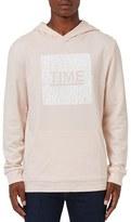 Topman Men's 'Time' Graphic Fixed Hem Oversize Hoodie