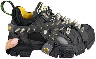 Gucci Flashtrek Black Leather Trainers
