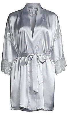 In Bloom Women's Sea of Love Lace-Trimmed Satin Wrap