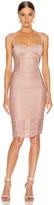 Jonathan Simkhai Shimmer Balconette Dress in Antique Rose | FWRD
