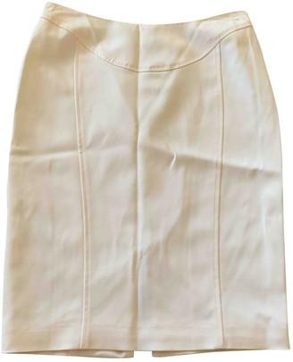Versace Ecru Silk Skirt for Women