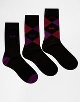 Pringle Waverley Socks In 3 Pack - Black