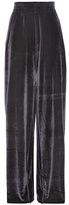 Vetements Embroidered velour track pants