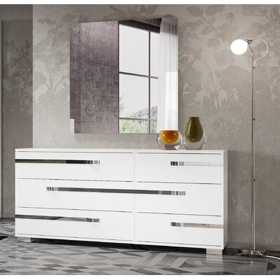 Orren Ellis Quiana 6 Drawer Double Dresser Shopstyle