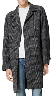 The Kooples Wool Blend Checked Coat
