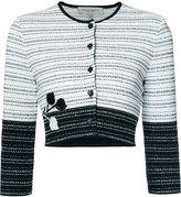 Carolina Herrera embroidered jacquard cardigan - women - Silk/Cotton/Viscose - M