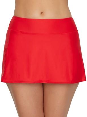 Sunsets Scarlet Sporty Skirted Bikini Bottom