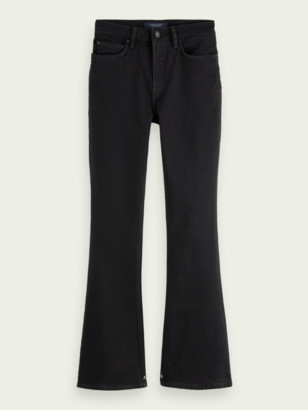 Scotch & Soda The Charm high-rise flared organic cotton jeans Black Shadow | Women