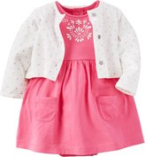 Carter's Baby Girls' 2-Piece Dress & Cardigan Set (, Pink)