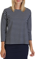 Nautica Elbow Sleeve Button Shoulder Knit
