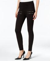 chelsea sky Zip-Detail Pull-On Leggings, Only at Macy's