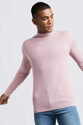 boohoo Long Sleeved Ribbed Turtle Neck