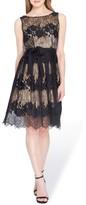 Tahari Women's Lace Fit & Flare Dress