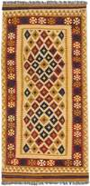 Ecarpetgallery eCarpet Gallery 156970 Hand-Woven Kashkoli Kilim Geometric 3' x 6' 100% Wool Area Rug