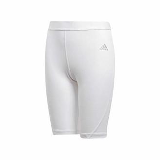 adidas Youth Alphaskin Sport Compression Shorts White