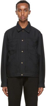 Needles Black Twill Penny Trucker Jacket