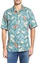 Tommy Bahama Men's Big & Tall Teresina Trellis Classic Fit Silk Blend Camp Shirt