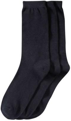 Joe Fresh Women's 3 Pack Crew Socks, JF Midnight Blue (Size 9-11)