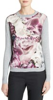Ted Baker Women's Illuminated Bloom Woven Front Sweater