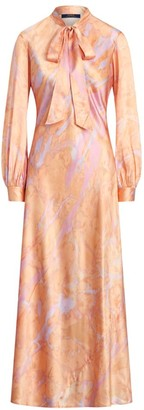 Ralph Lauren Rily Long-Sleeve Silk Dress