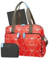 Orla Kiely Diaper Bag Tote - Red/White Stem Flower Print by orla