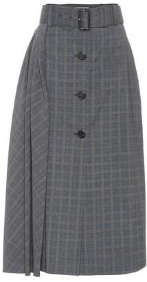 Prada Prince of Wales checked wool skirt