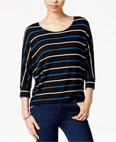 Maison Jules Striped Dolman-Sleeve Top, Only at Macy's