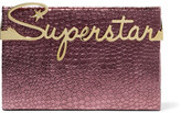 Charlotte Olympia Superstar Vanity Croc-Effect Leather Clutch