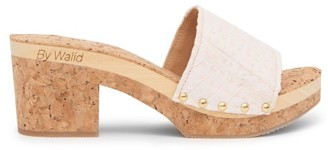 By Walid 19th-century Cotton And Cork Platform Sandals - Womens - Pink