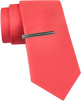 Jf J.Ferrar JF Black Satin Tie and Tie Bar Set - Slim