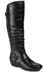 Bare Traps Baretraps Pabla Wide Calf Tall Shaft Women's Wedge Boot Women's Shoes