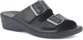 David Tate Leather Slide Sandals - Sol