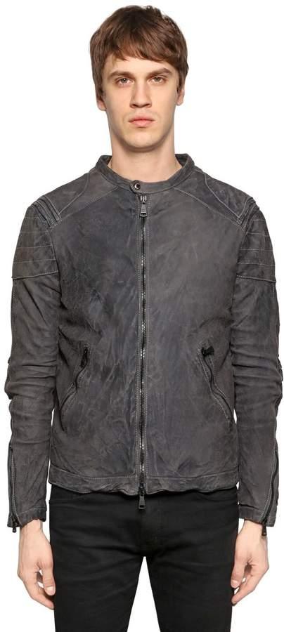 Giorgio Brato Washed Reversed Leather Jacket
