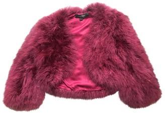 Jenny Packham Burgundy Fur Jackets