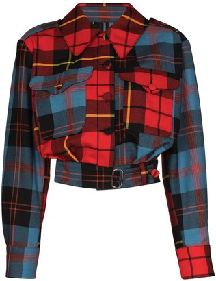 Charles Jeffrey Loverboy x Browns 50 Civil Uniform tartan jacket