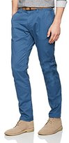 Tom Tailor Men's Trousers Travis Casual Chino w / Belt, Blue (Ensign Blue 6865)