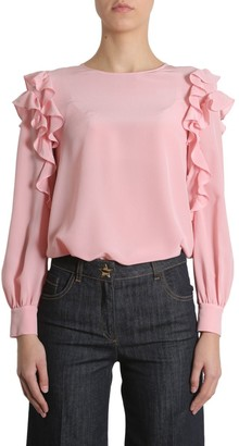Boutique Moschino Ruffled Sleeved Blouse