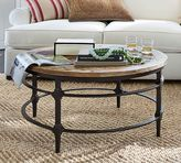 Pottery Barn Parquet Reclaimed Wood Round Coffee Table