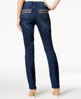 Vintage America Boho Embroidered Kemi Wash Straight-Leg Jeans