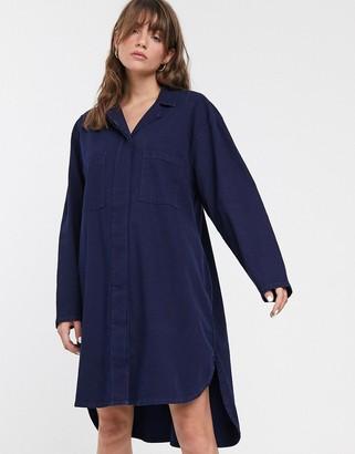 WÅVEN Kerr oversized denim shirt dress
